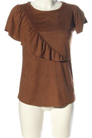 Soyaconcept Kurzarm-Bluse bronzefarben Casual-Look