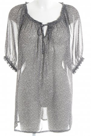 Soyaconcept Kurzarm-Bluse Punktemuster Casual-Look