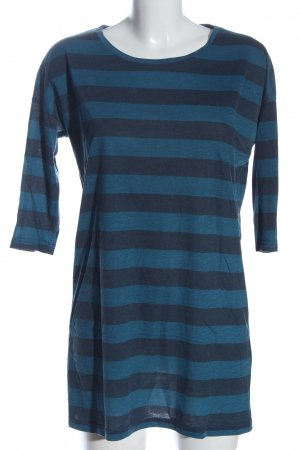 Soyaconcept Kurzarmkleid blau Allover-Druck Casual-Look