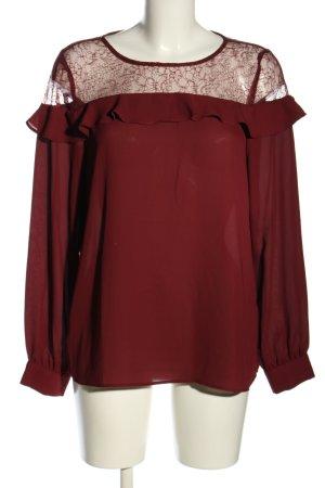 Soyaconcept Langarm-Bluse rot Elegant