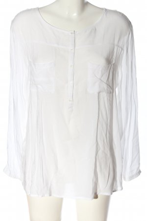 Soyaconcept Langarm-Bluse weiß Business-Look