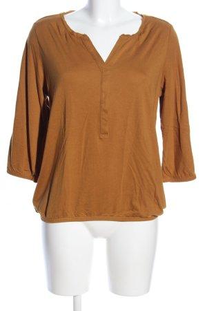 Soyaconcept Langarm-Bluse bronzefarben Casual-Look