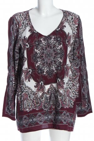 Soyaconcept Langarm-Bluse abstraktes Muster Casual-Look