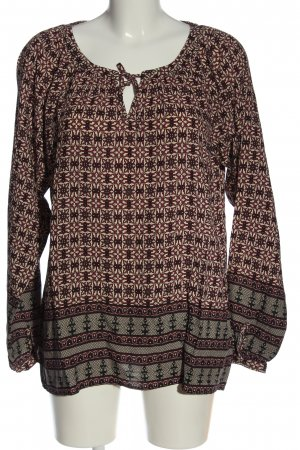 Soyaconcept Langarm-Bluse Allover-Druck Casual-Look