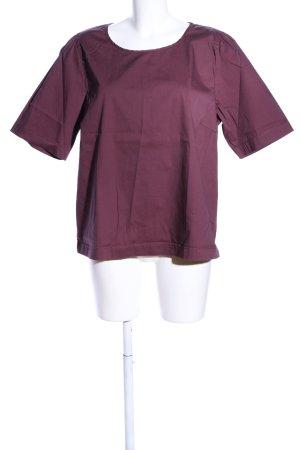 Soyaconcept Kurzarm-Bluse lila Casual-Look