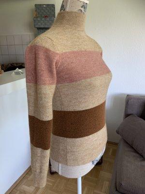 Soyaconcept Pulli/Sweater - Größe XS 34 - Gestreift - Brown/Beige/Rosé