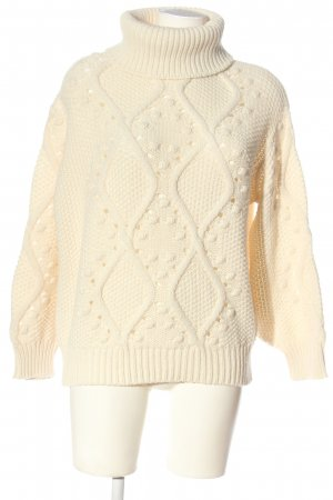Soyaconcept Rollkragenpullover creme grafisches Muster Casual-Look