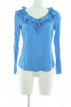 Soyaconcept Rüschen-Bluse kornblumenblau Casual-Look