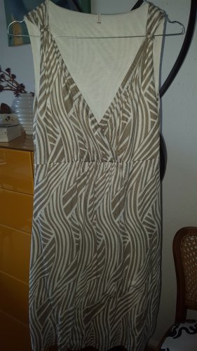 Soyaconcept Safari Kleid hellbraun weiß Gr.34/36