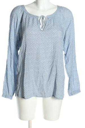 Soyaconcept Schlupf-Bluse blau-schwarz Allover-Druck Casual-Look