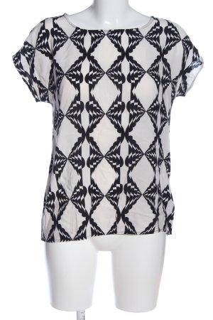 Soyaconcept Schlupf-Bluse weiß-schwarz Allover-Druck Casual-Look
