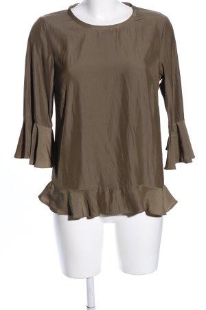 Soyaconcept Slip-over blouse bruin elegant