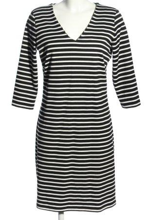 Soyaconcept Stretchkleid schwarz-weiß Streifenmuster Casual-Look