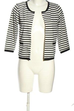 Soyaconcept Strickjacke weiß-schwarz Streifenmuster Casual-Look