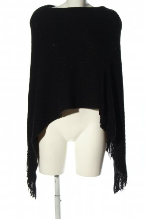 Soyaconcept Knitted Poncho black casual look