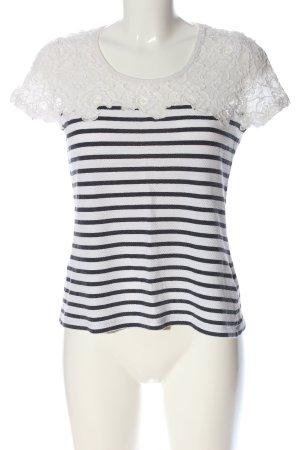 Soyaconcept Strickshirt weiß-schwarz Streifenmuster Casual-Look