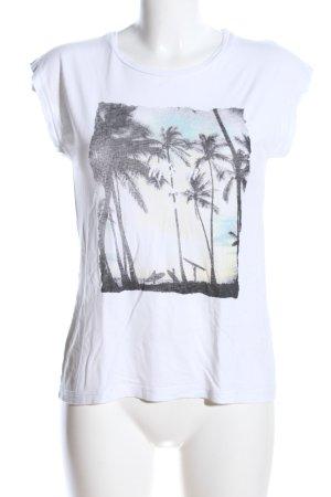 Soyaconcept T-Shirt weiß-schwarz Motivdruck Casual-Look