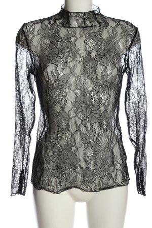 Soyaconcept Transparenz-Bluse schwarz Elegant