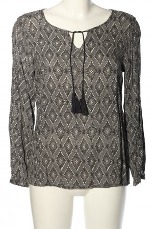 Soyaconcept Tunikabluse schwarz-weiß grafisches Muster Casual-Look
