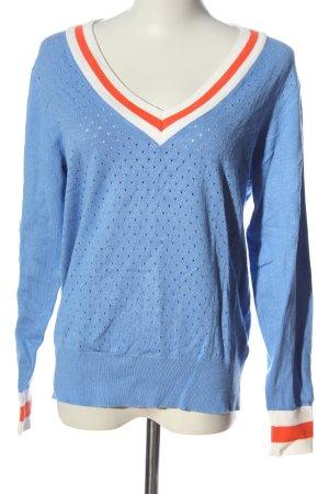 Soyaconcept V-Ausschnitt-Pullover blau Casual-Look