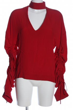 Space Langarm-Bluse rot Casual-Look