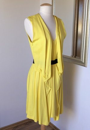 Space Style Concept Kleid Sommerkleid Cocktailkleid Viskose Gelb