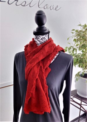 Spacecraft Knitted Scarf red polyacrylic