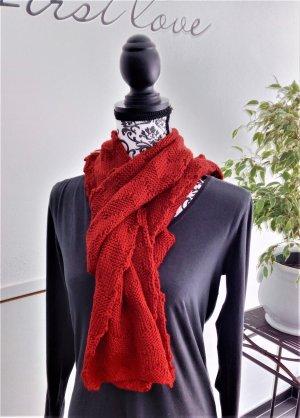 Spacecraft Écharpe en tricot rouge acrylique