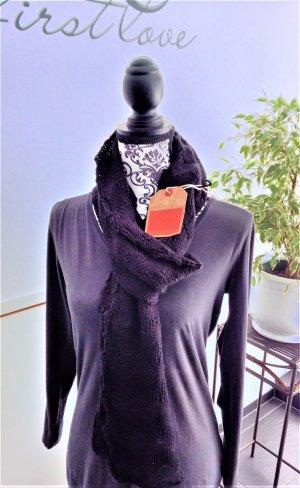 Spacecraft Knitted Scarf black polyacrylic