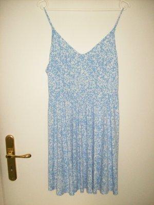 Spaghettiträgerkleid hellblau-weißgeblümt von H&M DIVIDED