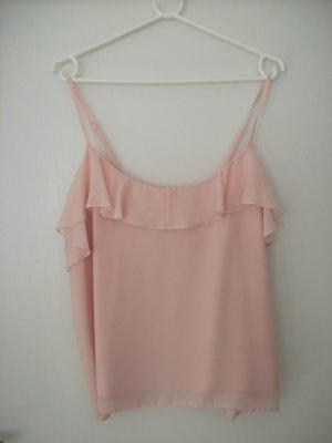 Clockhouse Top con bretelline rosa pallido
