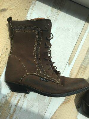 Buty w stylu western brąz Skóra