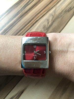 Fermoir de montre argenté-rouge