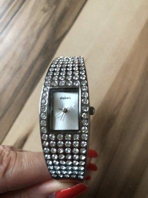 claire's Fermoir de montre argenté