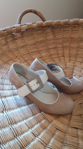 Tamaris Backless Pumps white-oatmeal