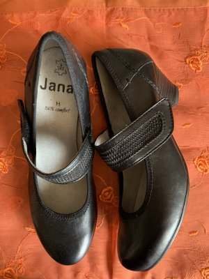 Jana Tacones de hebilla negro