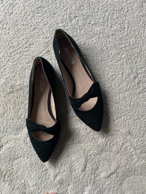 Cortefiel Ballerina's met kant zwart