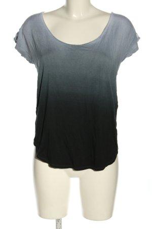 Sparkle & Fade Blouse Shirt black-light grey color gradient casual look