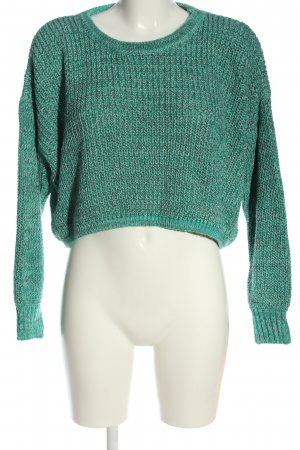 Sparkle & Fade Cropped Jumper turquoise flecked casual look