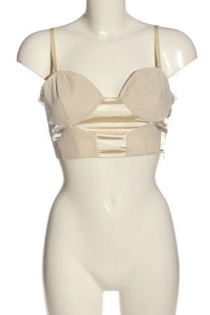 Sparkle & Fade Top corto crema elegante