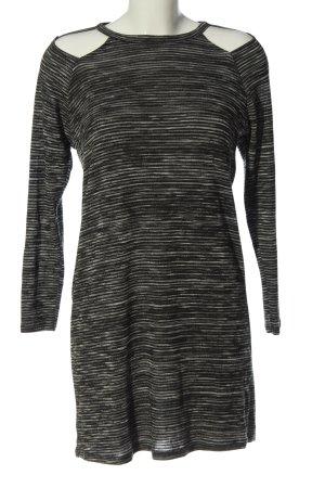 Sparkle & Fade Abito a maniche lunghe grigio chiaro-nero motivo a righe elegante