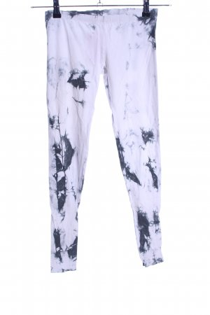 Sparkle & Fade Leggings weiß-hellgrau abstraktes Muster Casual-Look