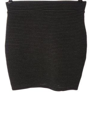 Sparkle & Fade Minigonna nero-grigio chiaro motivo a righe stile casual