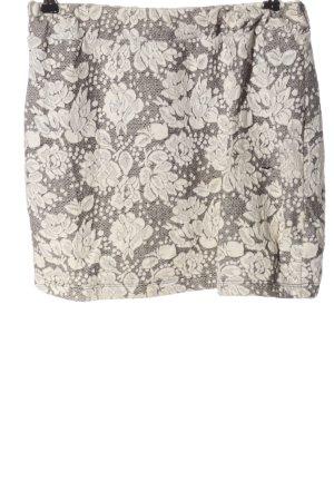 Sparkle & Fade Minigonna grigio chiaro-bianco stampa integrale elegante