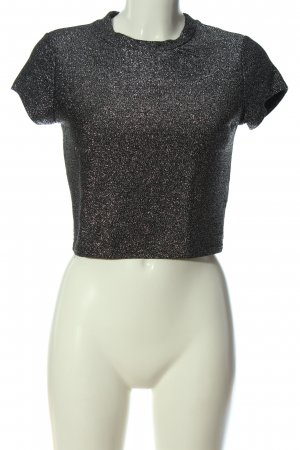 Sparkle & Fade Cropped Shirt silver-colored glittery