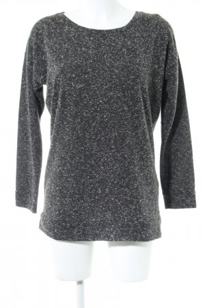 Sparkle & Fade Rundhalspullover schwarz-weiß meliert Casual-Look