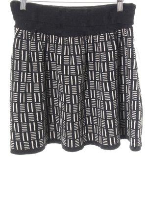 Sparkle & Fade Skaterrock schwarz-wollweiß abstraktes Muster