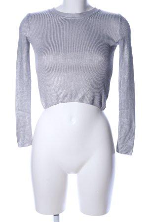 Sparkle & Fade Sweatshirt silberfarben Streifenmuster Elegant