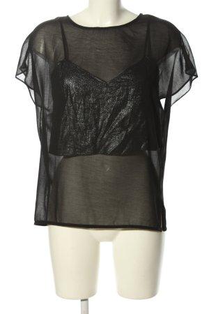 Sparkle & Fade Transparenz-Bluse schwarz Casual-Look