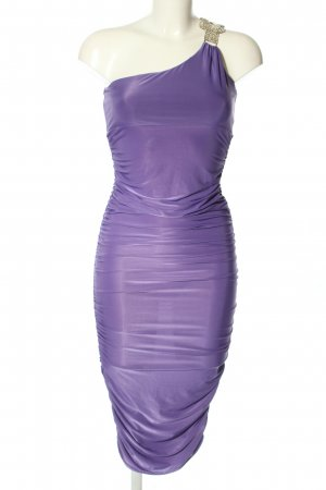 Spazm One Shoulder Dress lilac wet-look